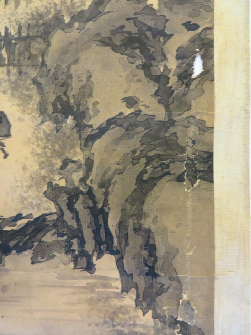 A INK AND COLOR ON PAPER HANGING SCROLL PAINTING. H197 - 9