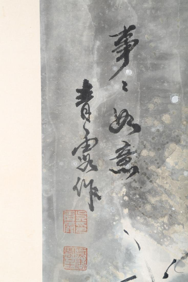 SIGNED WU QINGLU.A INK AND COLOR ON PAPER HANGING - 5
