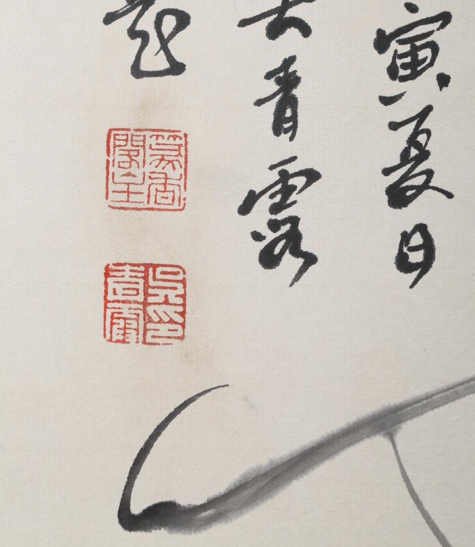 SIGNED WU QINGLU.A INK AND COLOR ON PAPER HANGING - 6