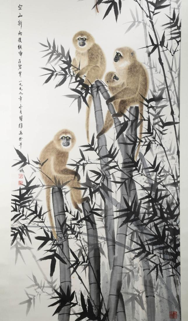 SIGNED FANG CHUXIONG (1950- ). A INK AND COLOR ON PAPER - 2