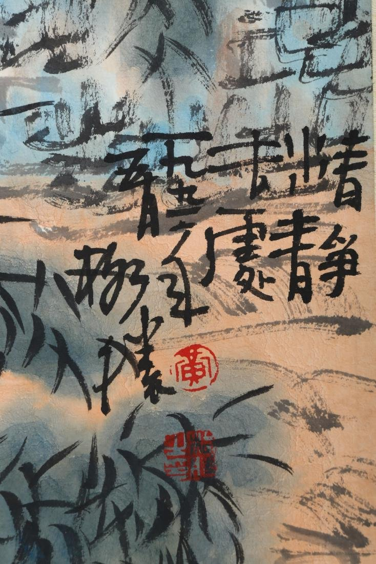 SIGNED HUANG GESHENG(1950-).A INK AND COLOR ON PAPER - 4