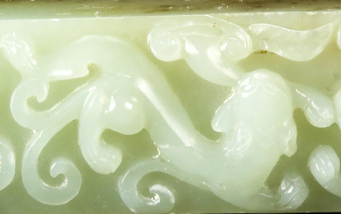 JADE PAPER-WEIGHT WITH DRAGON - 5