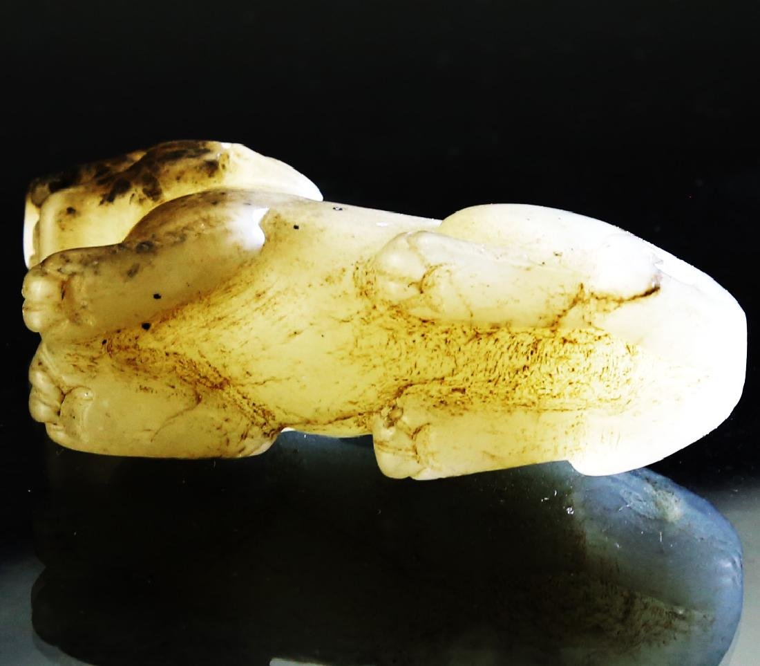 CHINESE WHITE JADE PENDANT, 20TH CENTURY AND LATER - 3