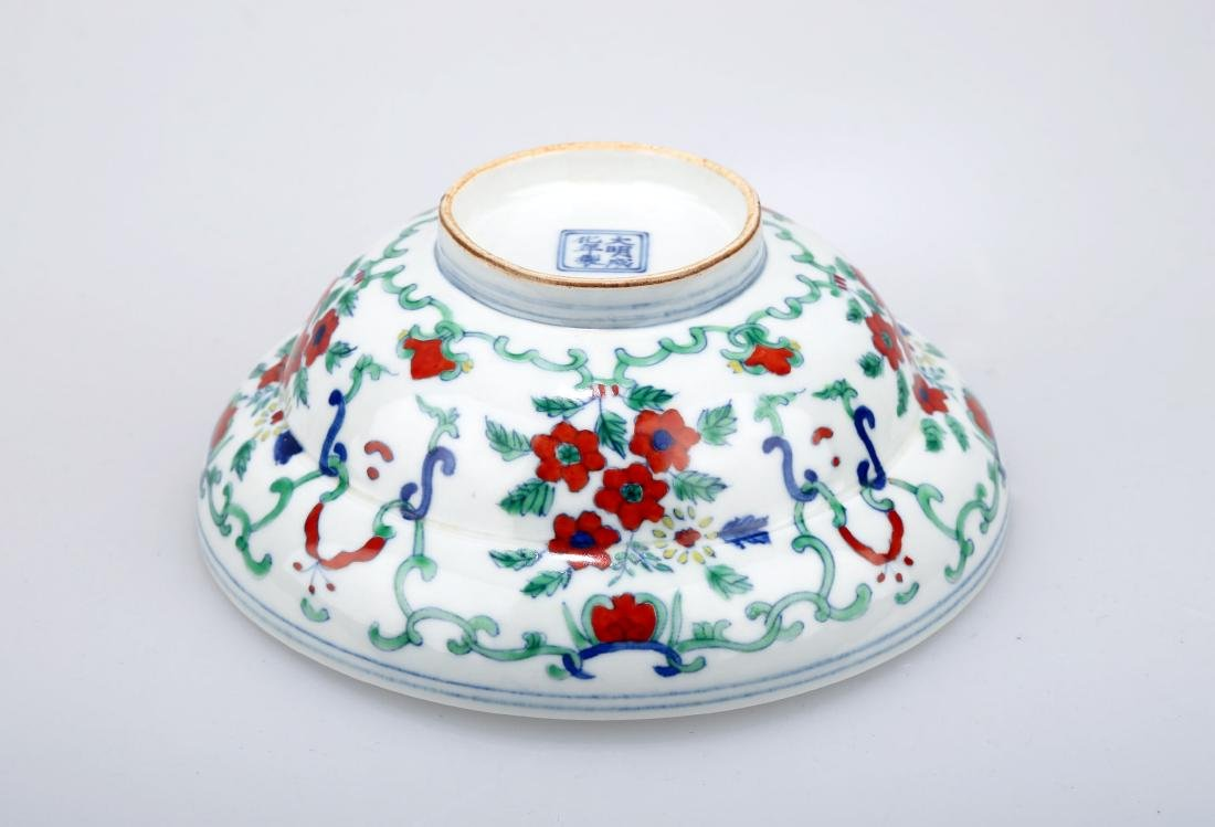 A DOUCAI BOWING BOWL WITH FLOWERS DESIGN.DA MING CHENG - 2