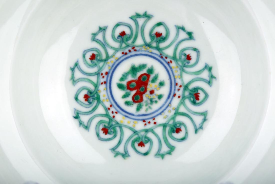 A DOUCAI BOWING BOWL WITH FLOWERS DESIGN.DA MING CHENG - 4