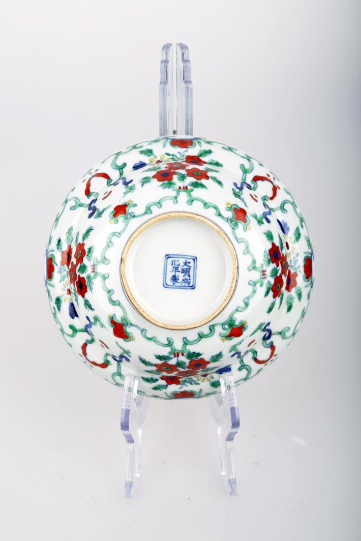 A DOUCAI BOWING BOWL WITH FLOWERS DESIGN.DA MING CHENG - 5