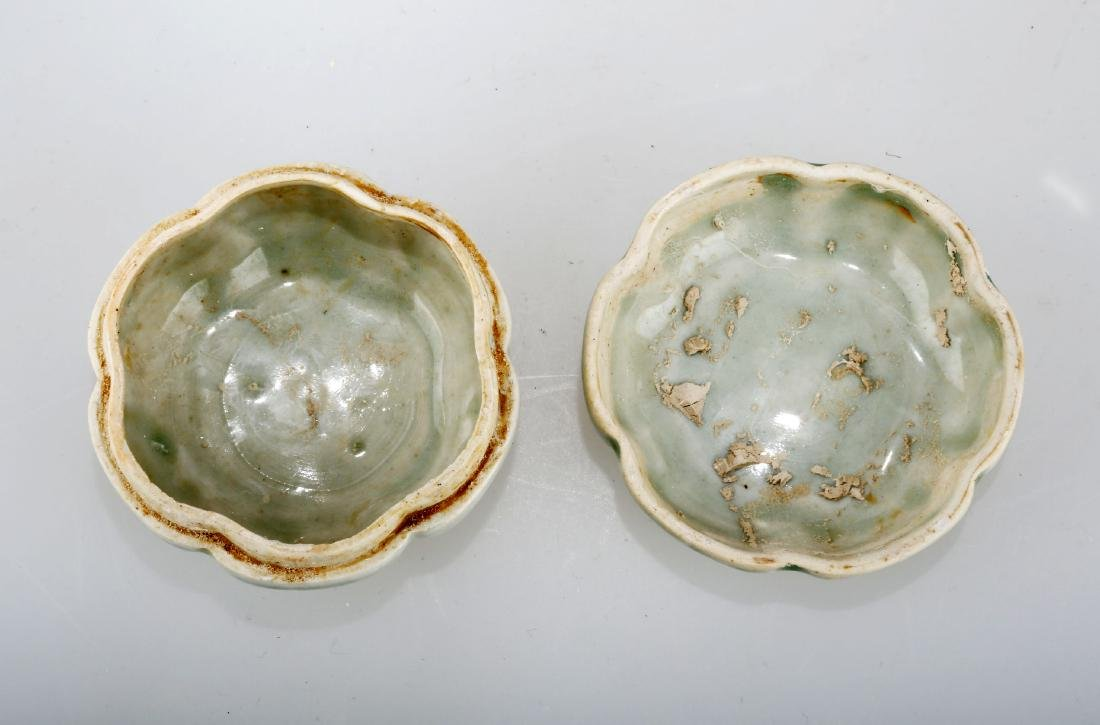 A YINGQING GLAZED CELADON BOX AND COVER.C234. - 3