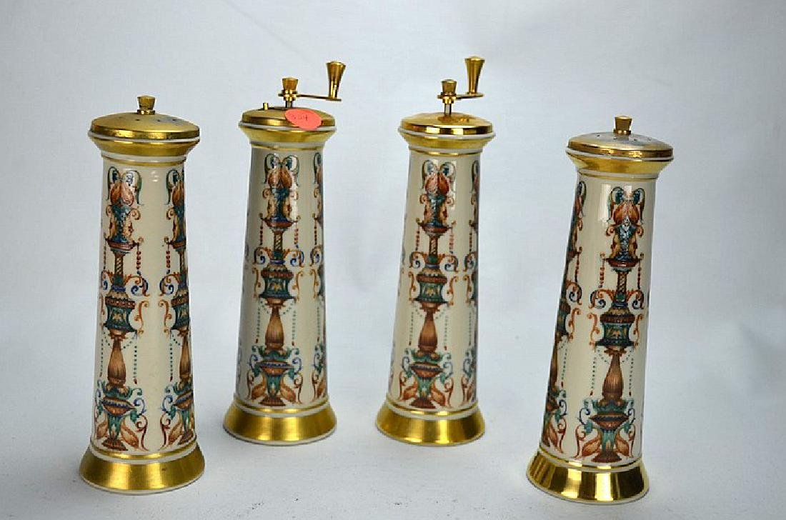 (4)  LENOX TWO PAIRS OF SALT & PEPPER SHAKERS.