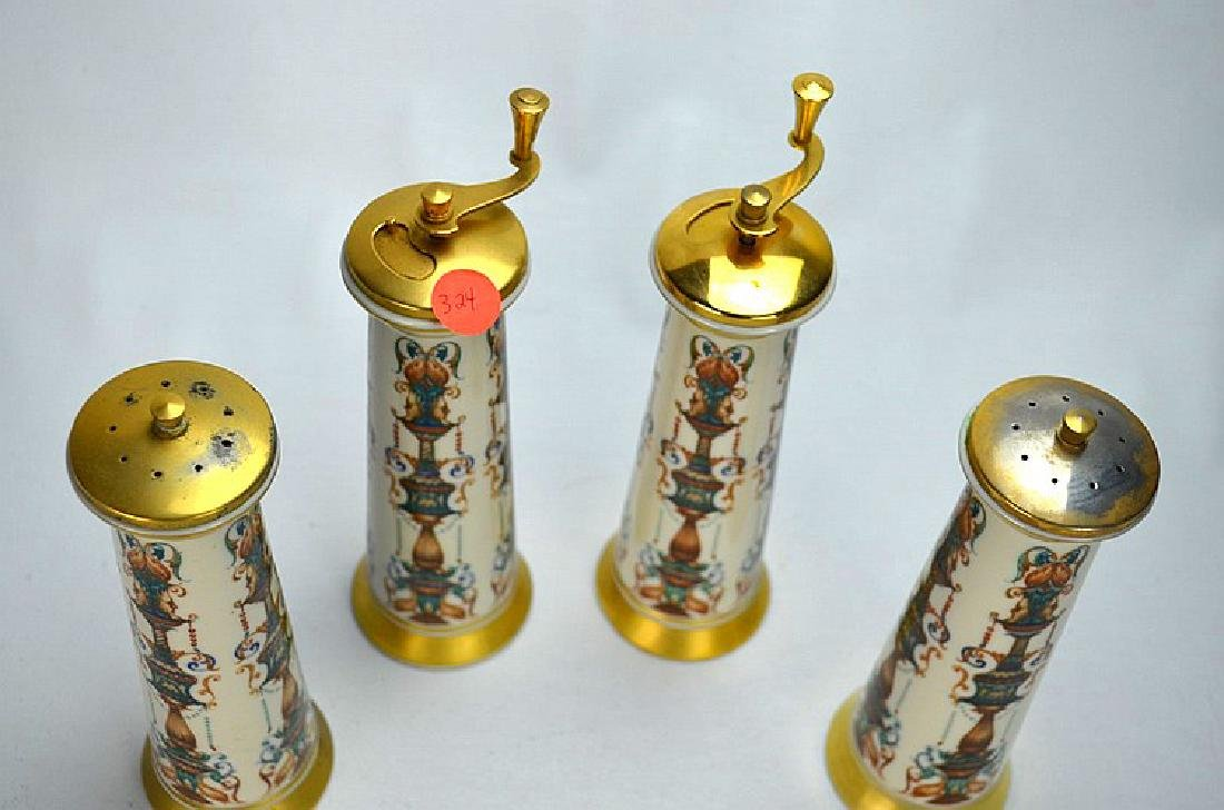 (4)  LENOX TWO PAIRS OF SALT & PEPPER SHAKERS. - 2