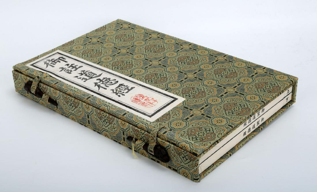 (2)  A SET OF TWO ENGRAVED WOOD BLOCK PRINTING BOOKS: