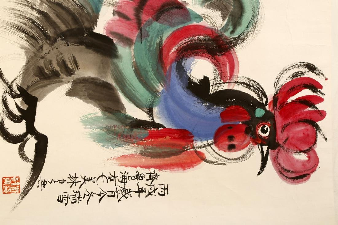 SIGNED FAN MEILIN (1936-   ).A INK AND COLOR ON PAPER - 2