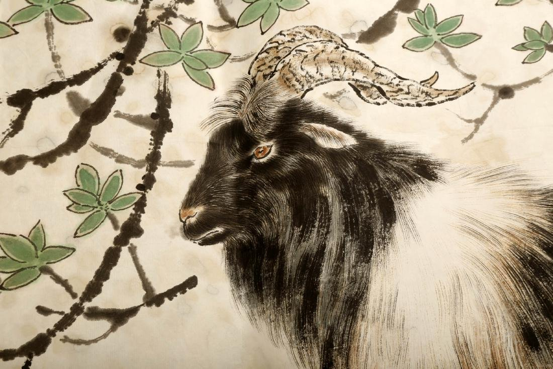 SIGNED FANG CHUXIONG (1950- ). A INK AND COLOR ON PAPER - 4