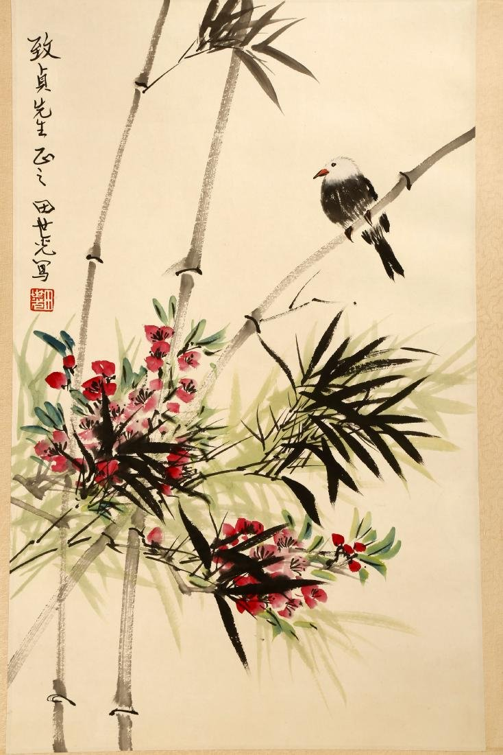 SIGNED TIAN SHIGUANG (1916-1999).A INK AND COLOR ON - 4