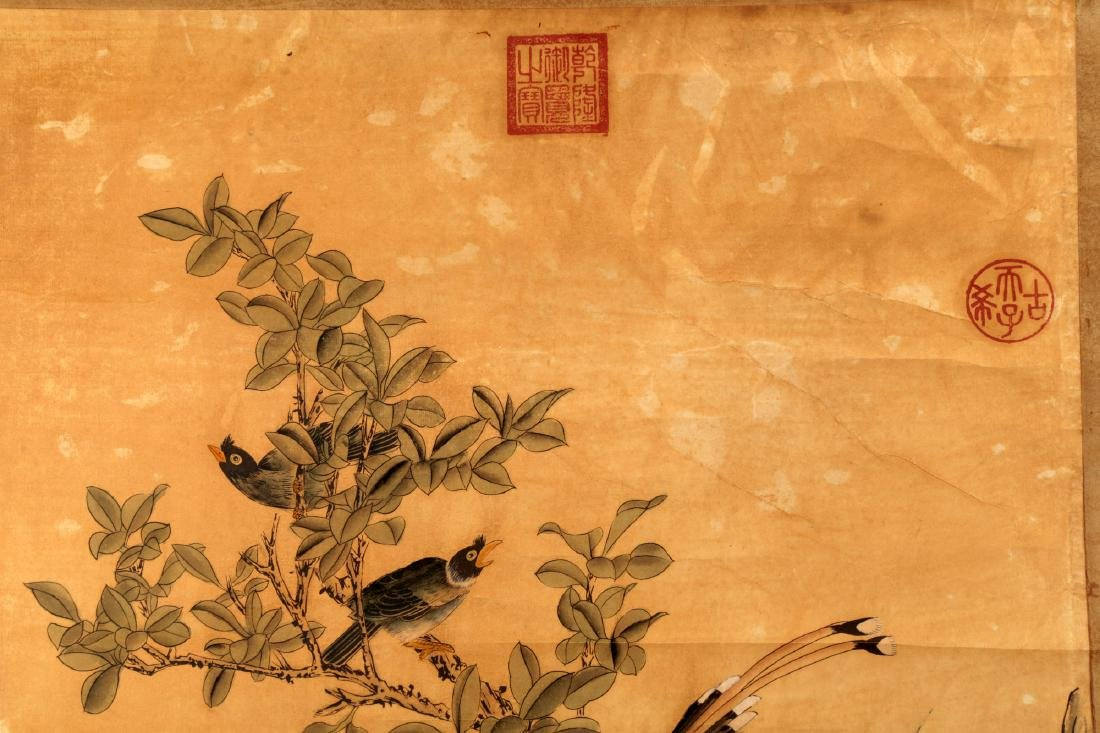 ATTRIBUTED AND SIGNED LU JI (1477-?). A INK AND COLOR - 3