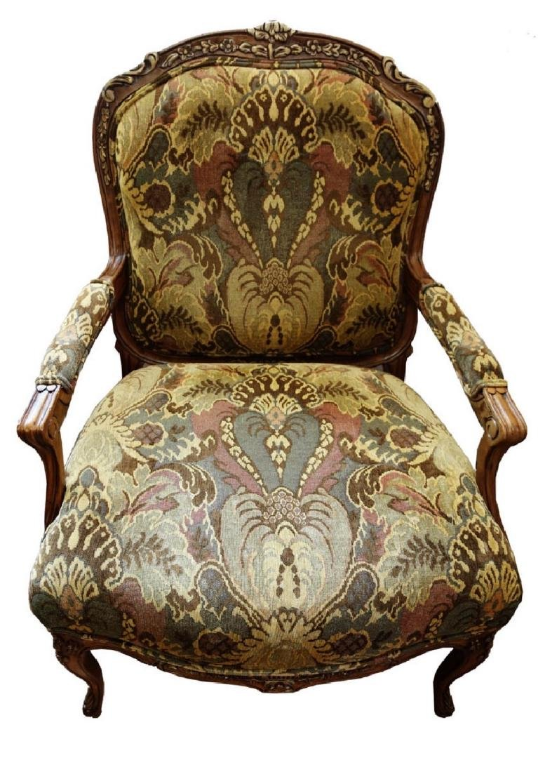 (2)  PAIR OF KING/QUEEN THRONE ROCOCO ARM CHAIR. - 2
