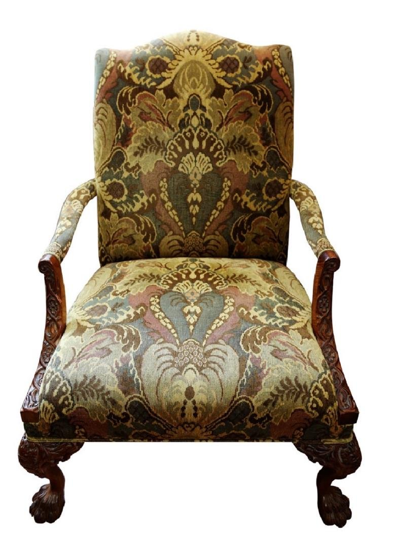 (2)  PAIR OF KING/QUEEN THRONE ROCOCO ARM CHAIR. - 3