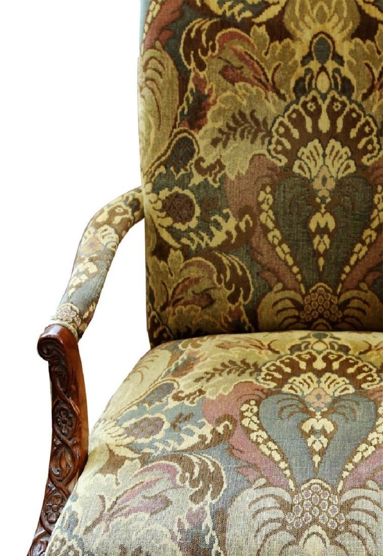 (2)  PAIR OF KING/QUEEN THRONE ROCOCO ARM CHAIR. - 5