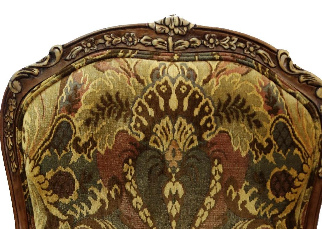 (2)  PAIR OF KING/QUEEN THRONE ROCOCO ARM CHAIR. - 7
