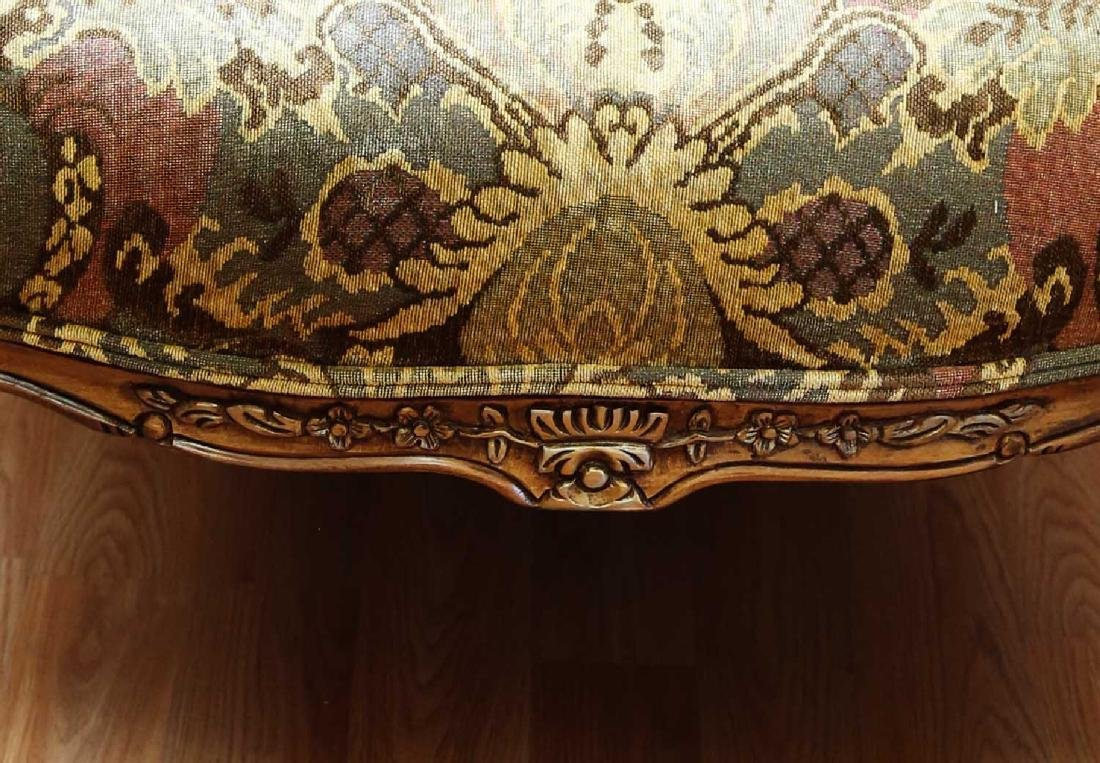 (2)  PAIR OF KING/QUEEN THRONE ROCOCO ARM CHAIR. - 8