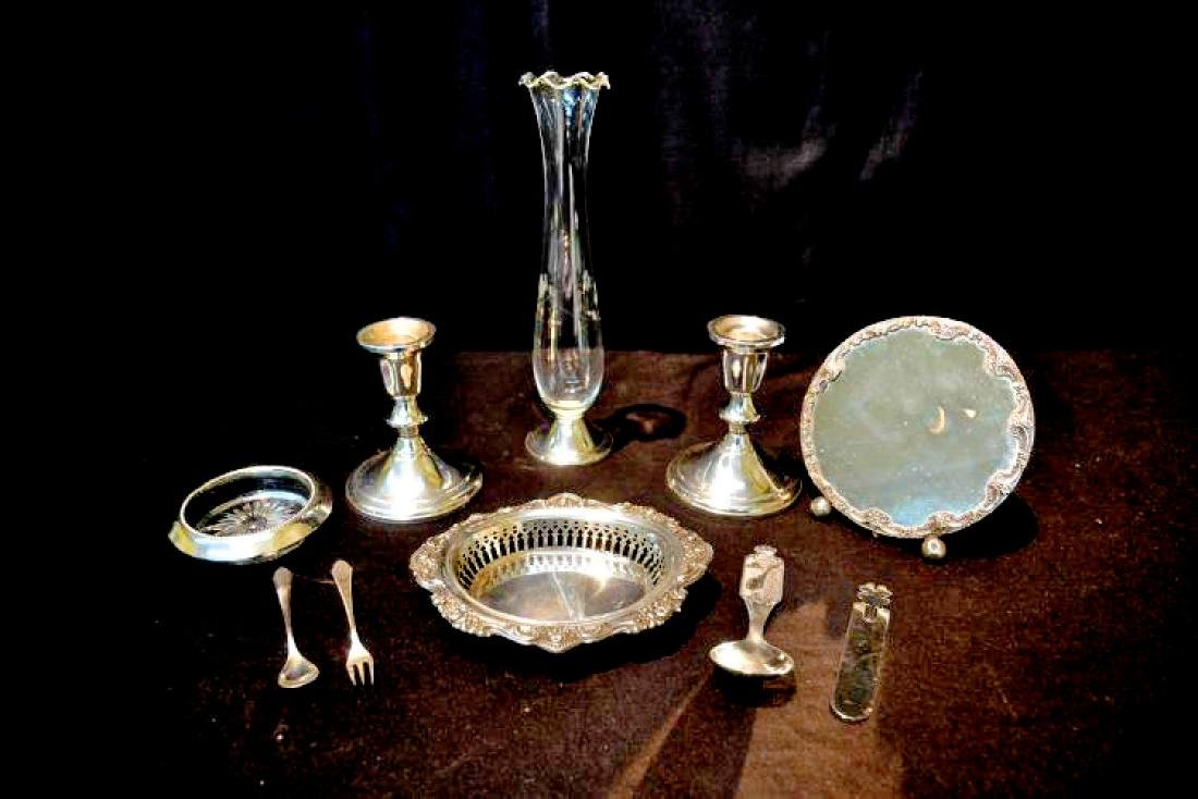 10)  A GROUP OF TEN WEIGHTED STERLING SILVER LOT - (PR) - 2