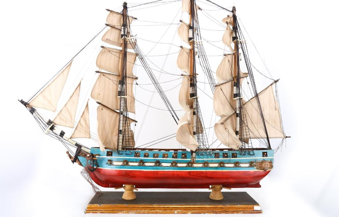 A WOODEN SHIP MODEL USS CONSTITUTION, FULLY - 2