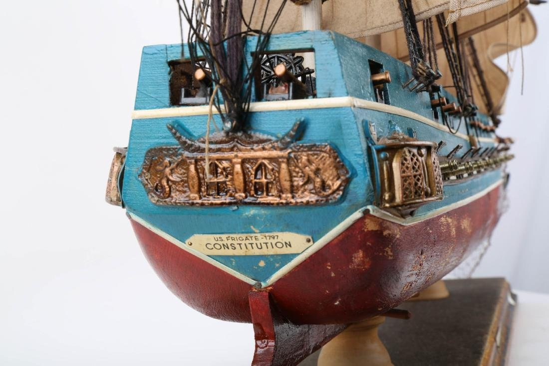 A WOODEN SHIP MODEL USS CONSTITUTION, FULLY - 3