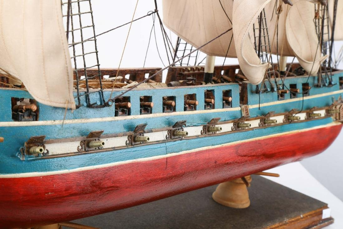 A WOODEN SHIP MODEL USS CONSTITUTION, FULLY - 5