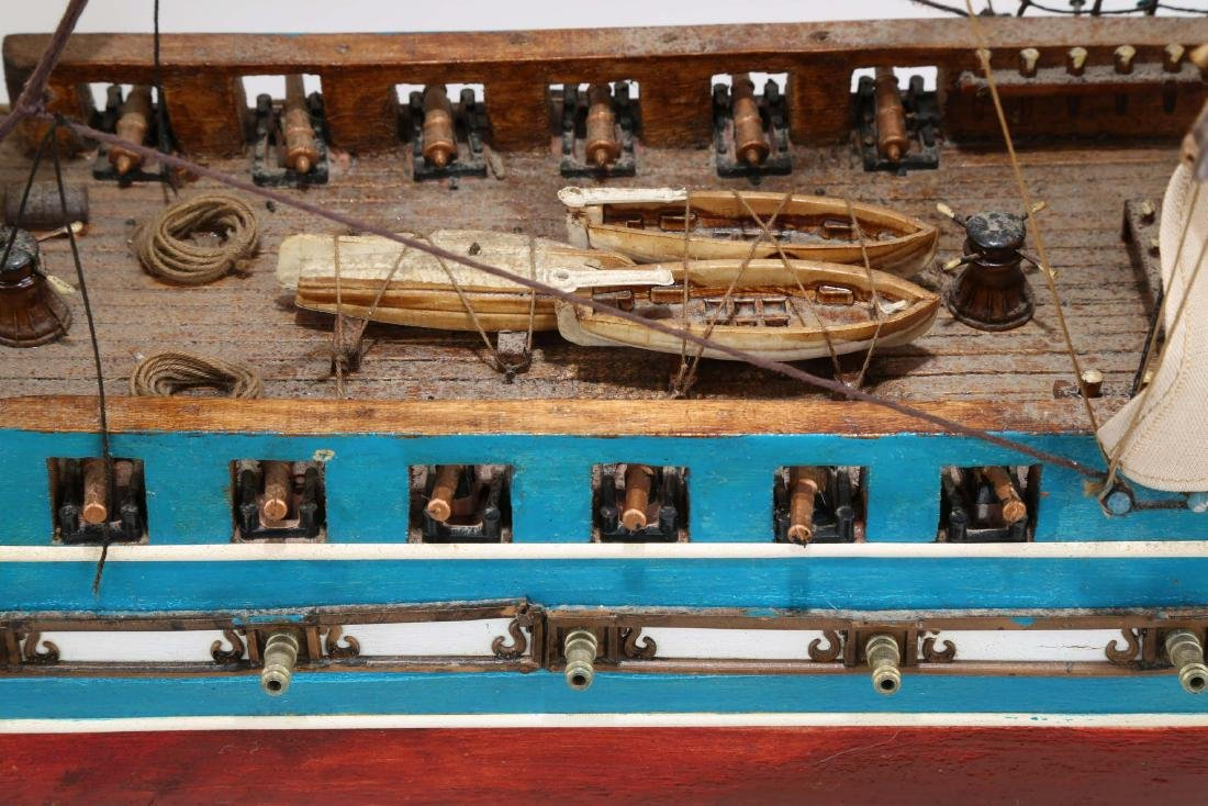A WOODEN SHIP MODEL USS CONSTITUTION, FULLY - 8