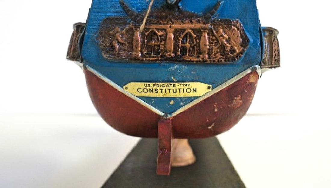 A WOODEN SHIP MODEL USS CONSTITUTION, FULLY - 9