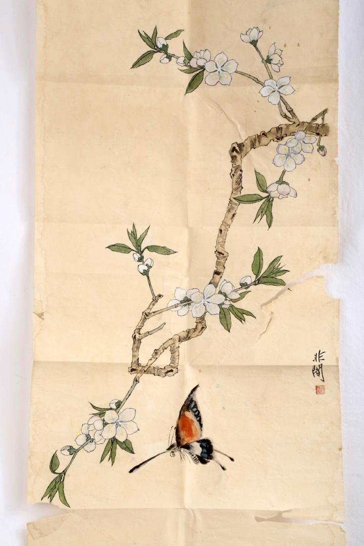 SIGNED YU FEIAN (1888-1959). A INK AND COLOR ON PAPER - 2