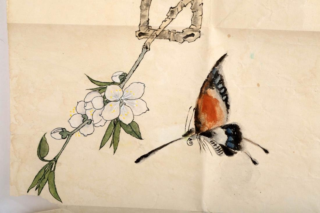 SIGNED YU FEIAN (1888-1959). A INK AND COLOR ON PAPER - 6