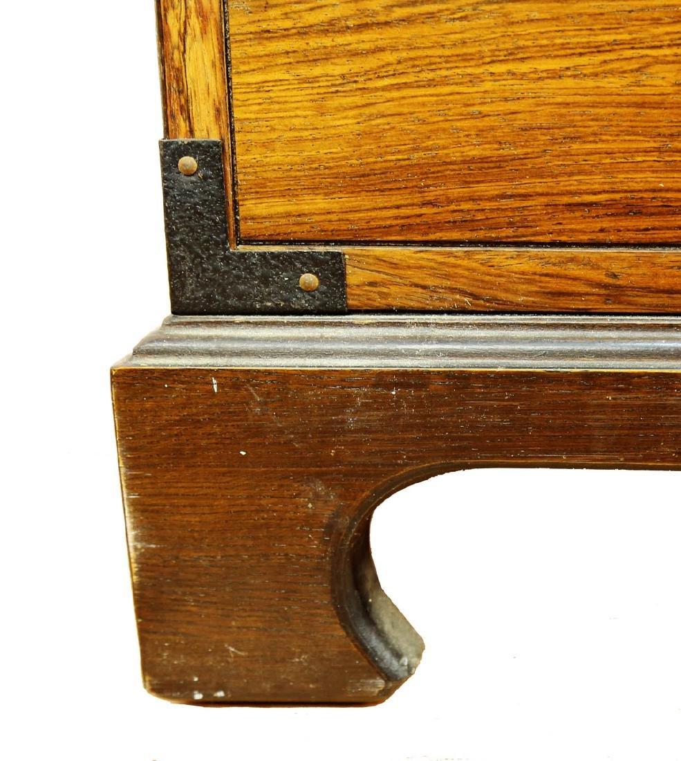 FINE OAK BLANKET BOX, OF PLAIN RECTANGULAR FORM, THE - 7