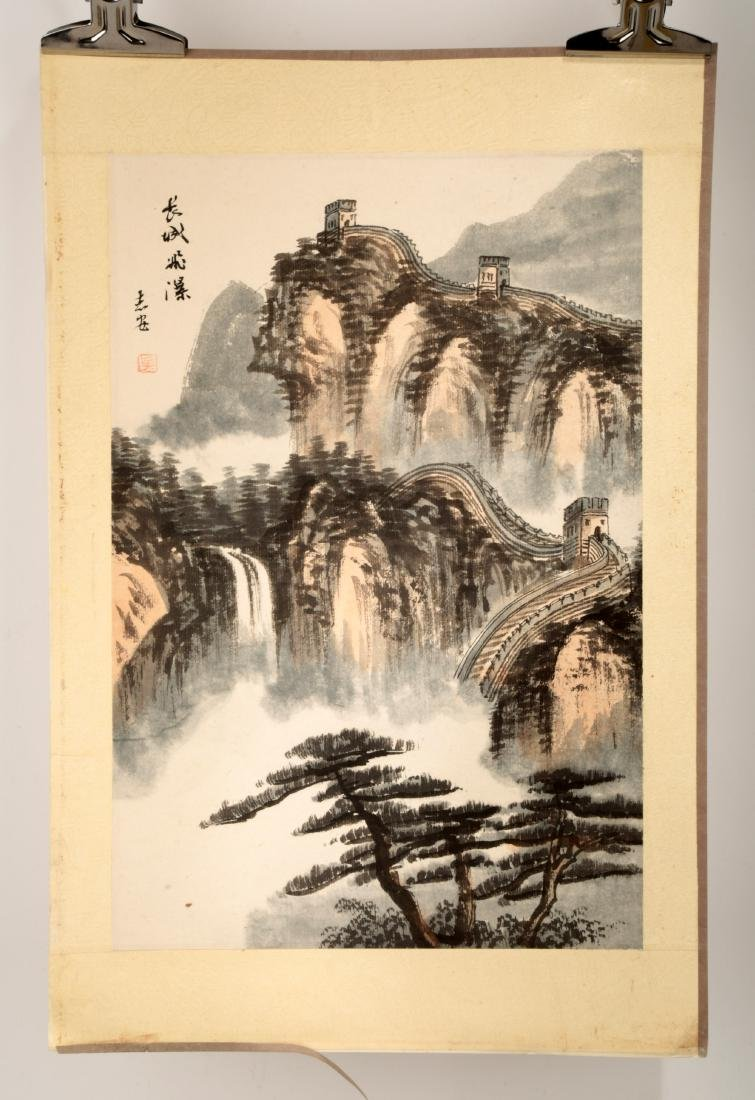 SIGNED WU ZHIAN. CHINESE INK AND COLOR ON PAPER