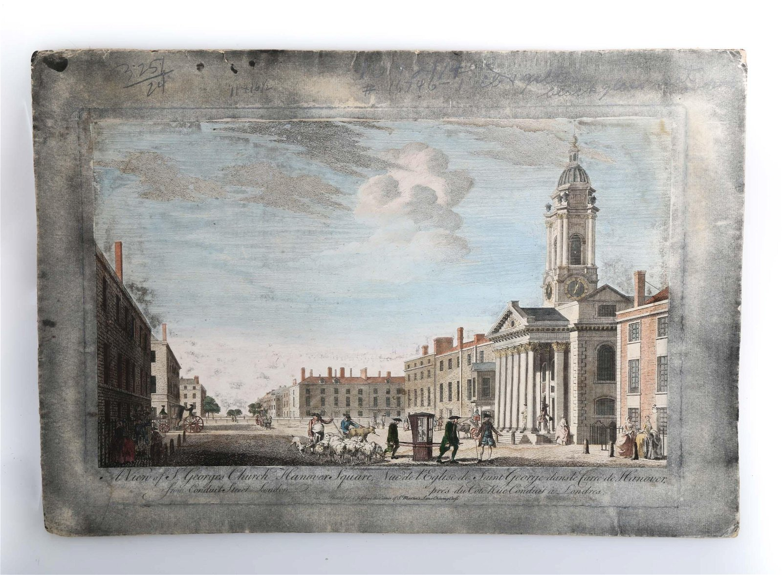"""A ENGLISH ENGRAVING """"VIEW OF ST. GEORGE"""" BOYDELL, 18TH"""