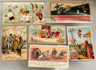 (6) A SET OF SIX COLOR CHINESE RACIST-STEREOTYPE TRADE