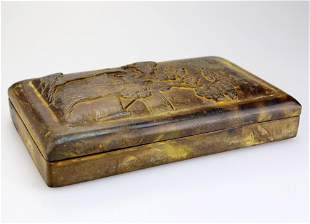 LARGE CHINESE DUAN INKSTONE 19th century and later.An