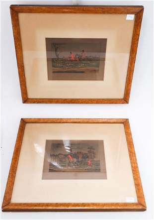 (2)  PAIR OF FRAMED PRINTS 4.OH017.