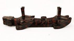 A Rarecarved Tiger-shape Lacquer Sword Rack.