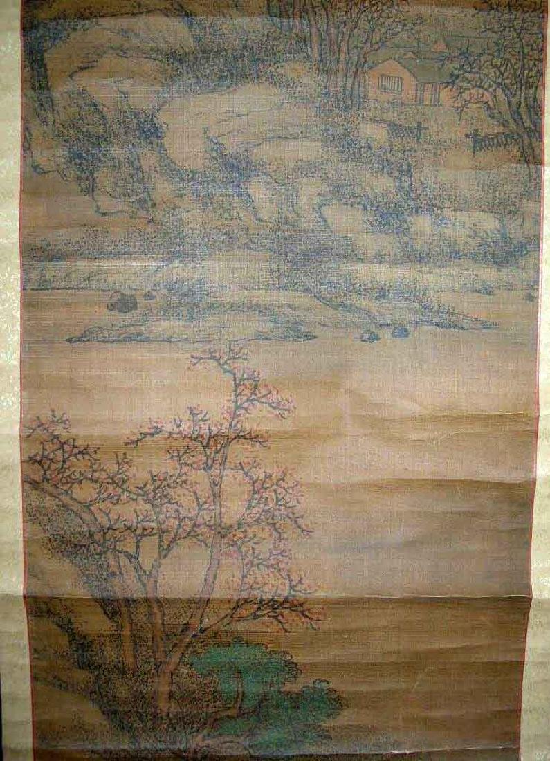 (2)   A PAIR OF ANTIQUE CHINESE HANGING SCROLL - 5