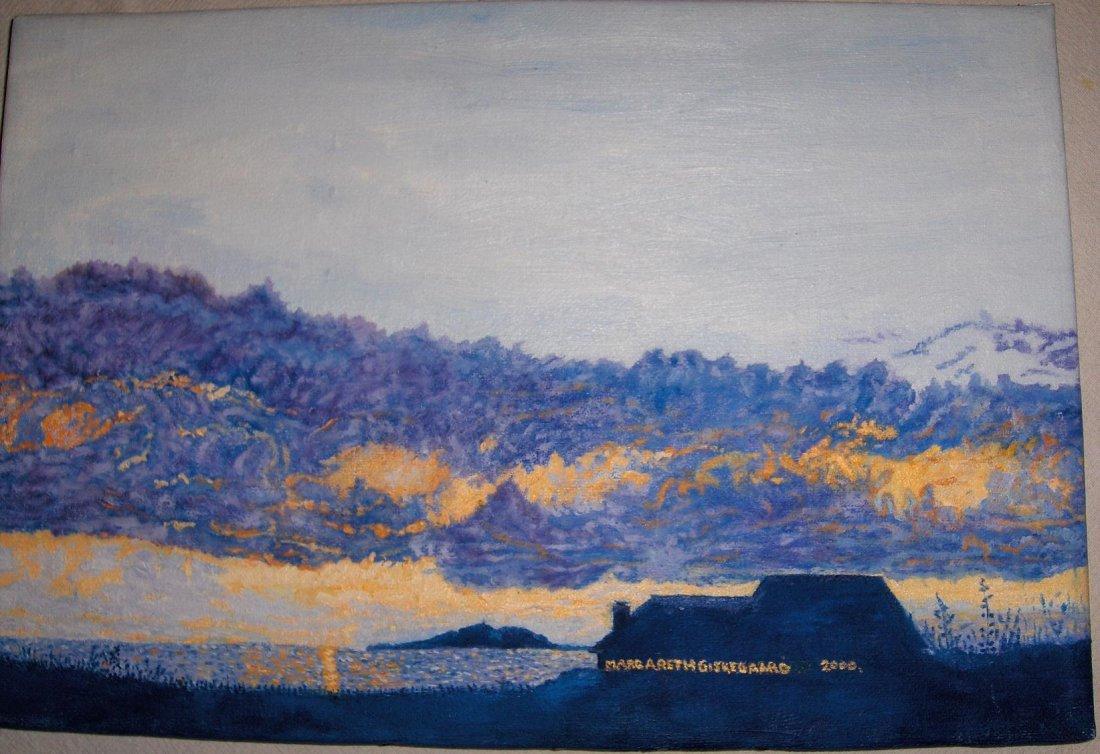 Cloudy Sunset   original M. Giskegaard