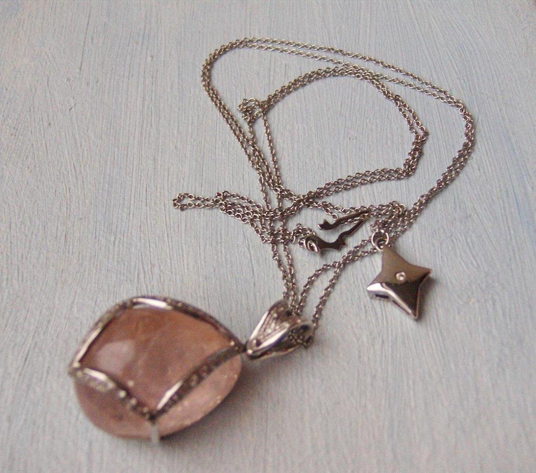 Necklace 54.75 ctw  FG/VS Diamonds, Morganit 18k