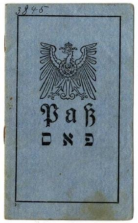 Passport in German and Yiddish - German-occupied