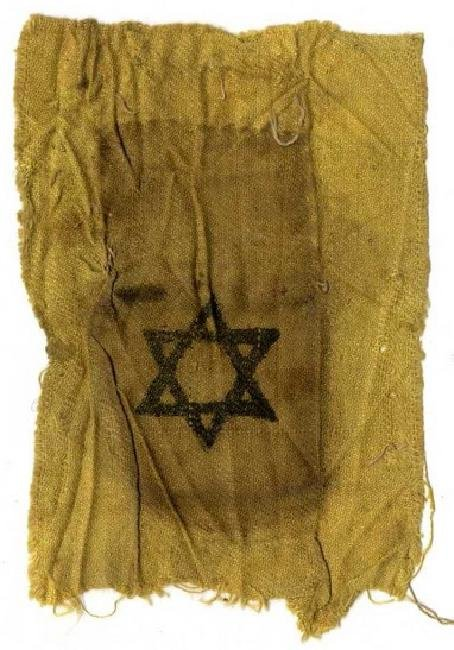 Cloth yellow patch used during the Holocaust years