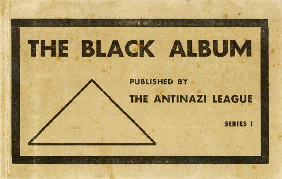 """The black album"" - album of postcards. Early"