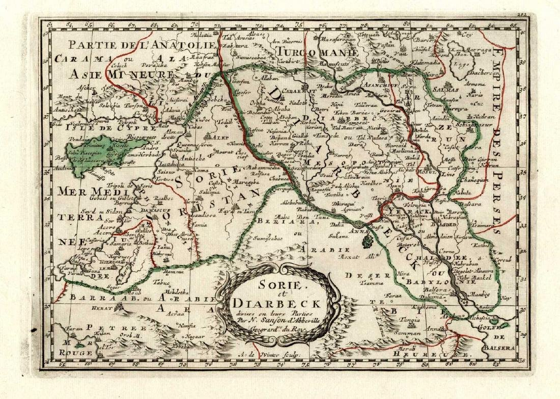 Collection of [7] ancient geographic maps -Engravings
