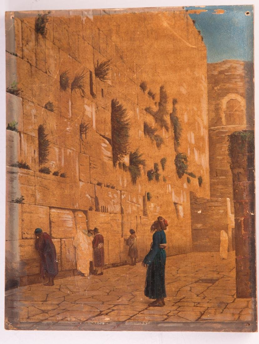 The Western Wall, Oil on Wood. 19th Century. Jean-Léon