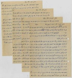 Handwritten record of Torah thoughts said over by the
