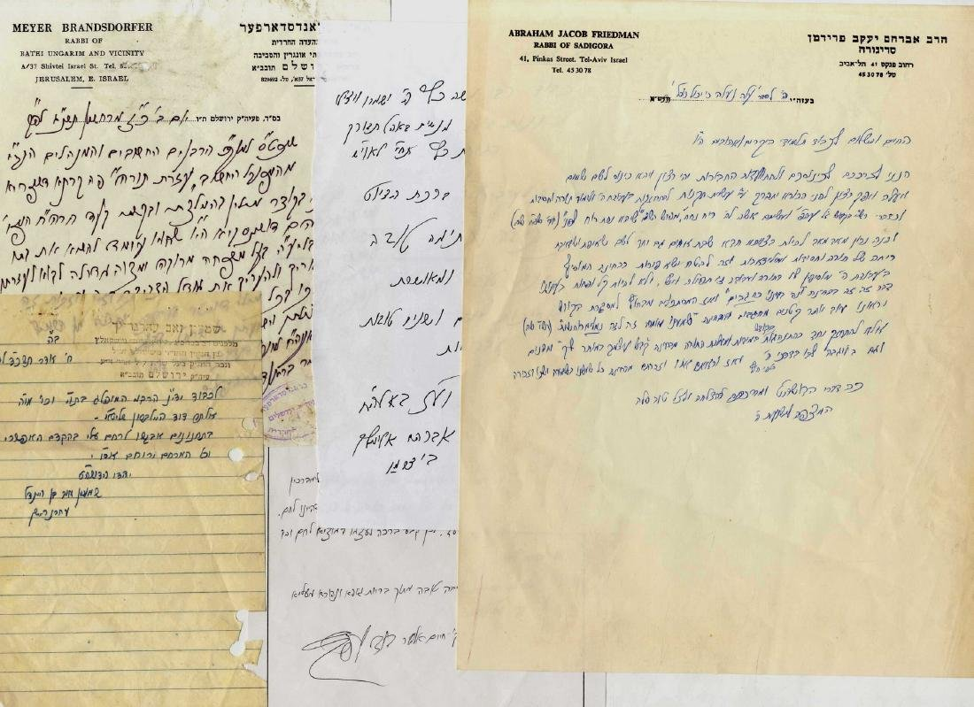 A Collection of Letters of Rabbis and Rebbes