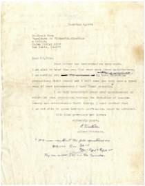 Letter. Prof. Einstein with handwritten formulas,