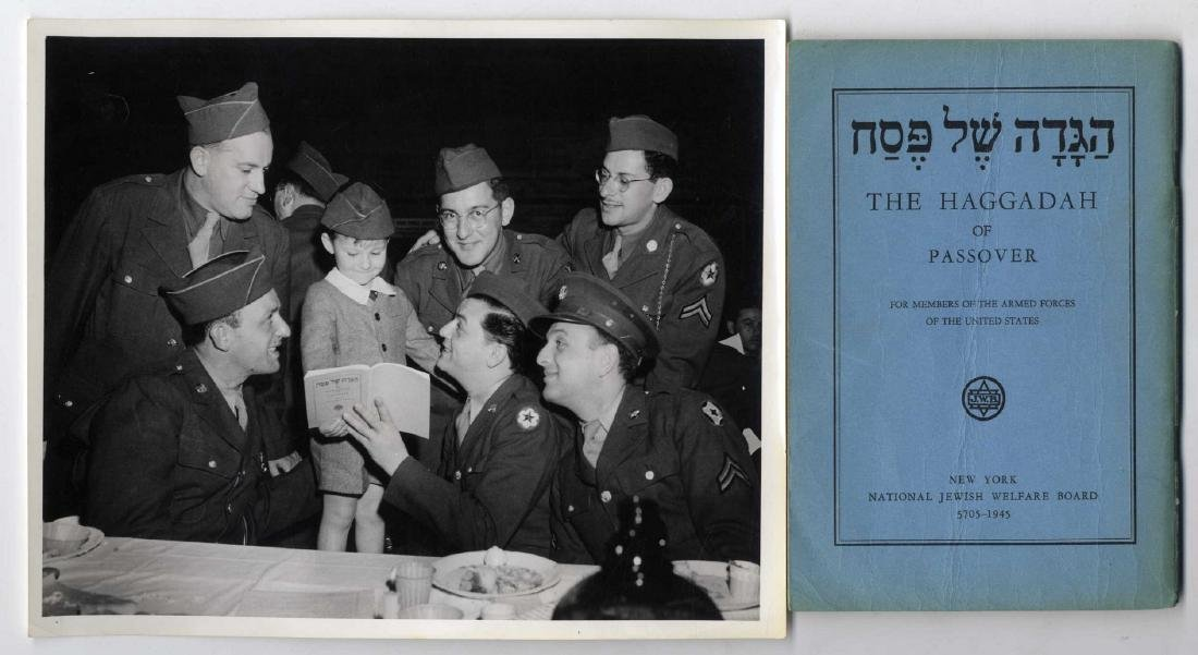 Passover haggada for Jewish soldiers in the American